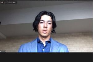 オンライン会見に出席した男子ゴルフの石川遼(日本ゴルフツアー機構提供)