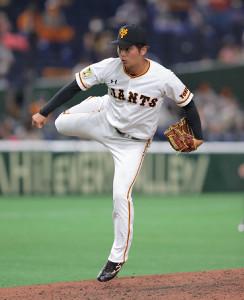 9回から3番手でマウンドに上がった沼田翔平