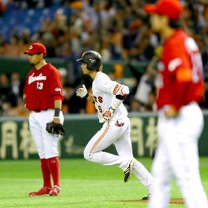 2014年4月10日、広島戦6回2号ソロを放った坂本