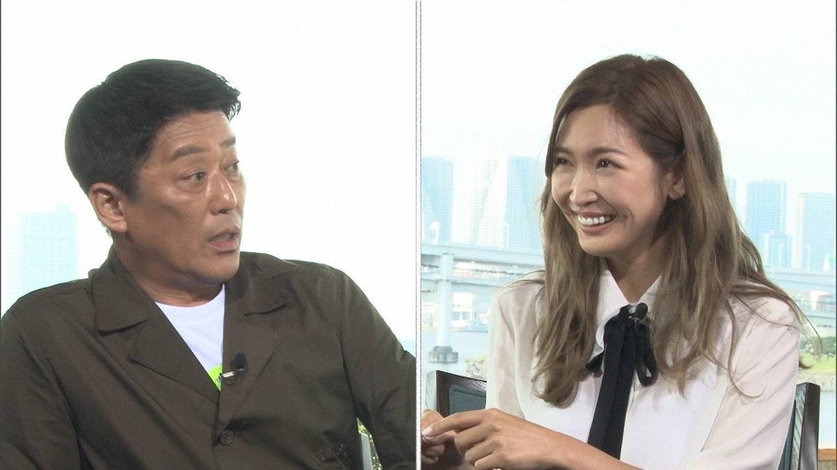 「直撃!シンソウ坂上」で対談する坂上忍(左)と紗栄子(C)フジテレビ