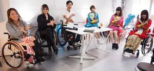 対談を行った(左から)中嶋涼子、曽塚レナ、三代達也氏、仮面女子の雪乃しほり、小島夕佳、猪狩ともか