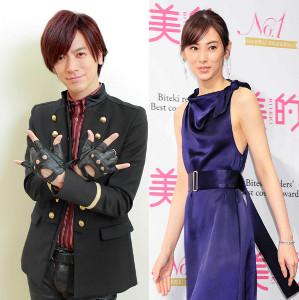 第1子の女児を出産した北川景子(右)と父になったDAIGO