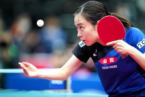 1月の全日本卓球選手権でプレーした石川