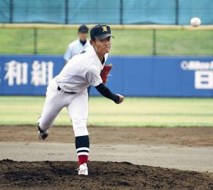 角館のエース武田は秋田修英戦で1失点完投勝利を挙げた
