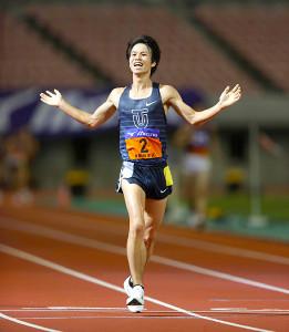 男子1万メートル競歩で優勝した東洋大・池田向希