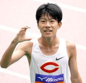 男子5000メートルを制した中大・吉居