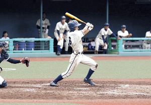 4打数3安打2打点の福島東・氏家大輔