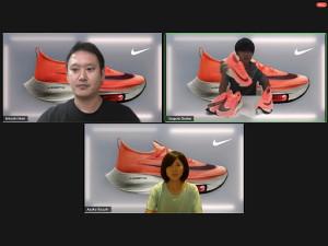 大迫傑(右上)は鈴木亜由子(下)とトークセッションを行った