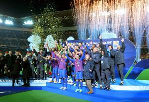 クラブW杯の表彰式(11年)