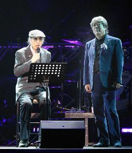2012年1月、沢田研二のライブコンサートに一曲だけゲスト出演した岸部四郎さん