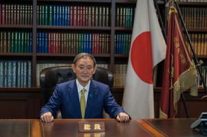自民党の菅義偉総裁(ロイター)