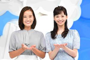 「ZIP!」の新レギュラーに加入する石川みなみアナ(右)、忽滑谷こころアナ