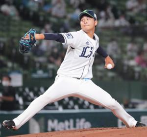 プロ初先発初勝利の浜屋将太(カメラ・清水 武)