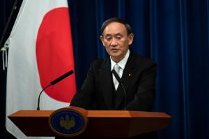 第99代首相に選出された菅義偉氏(ロイター)