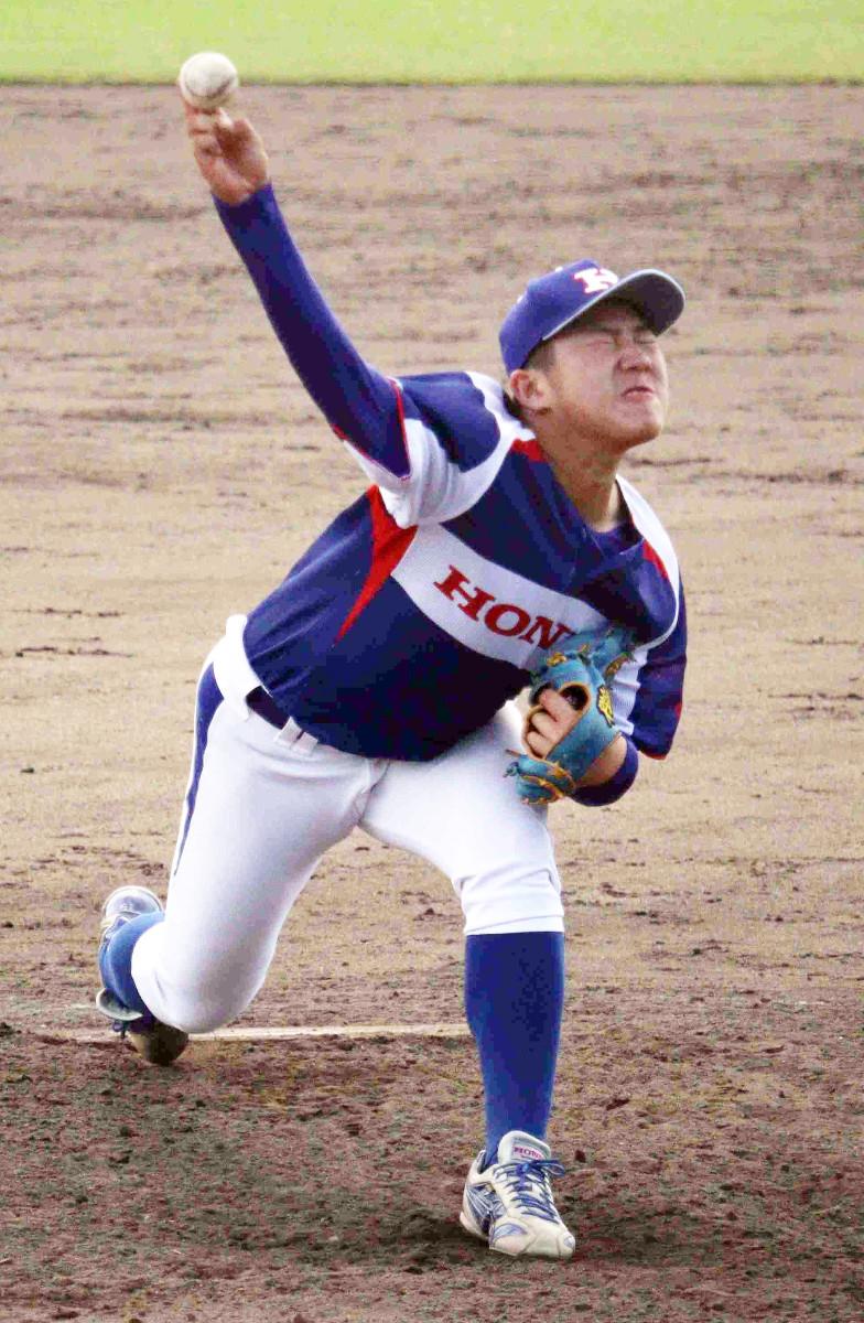 プロ注目のホンダ鈴鹿・松本竜也投手