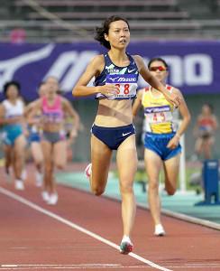 全日本実業団対抗選手権女子1500mで優勝した卜部蘭