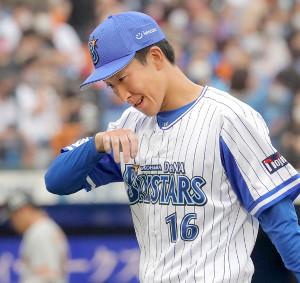 6回4失点の大貫晋一 (カメラ・清水 武)2020年9月20日=神奈川・横浜スタジア