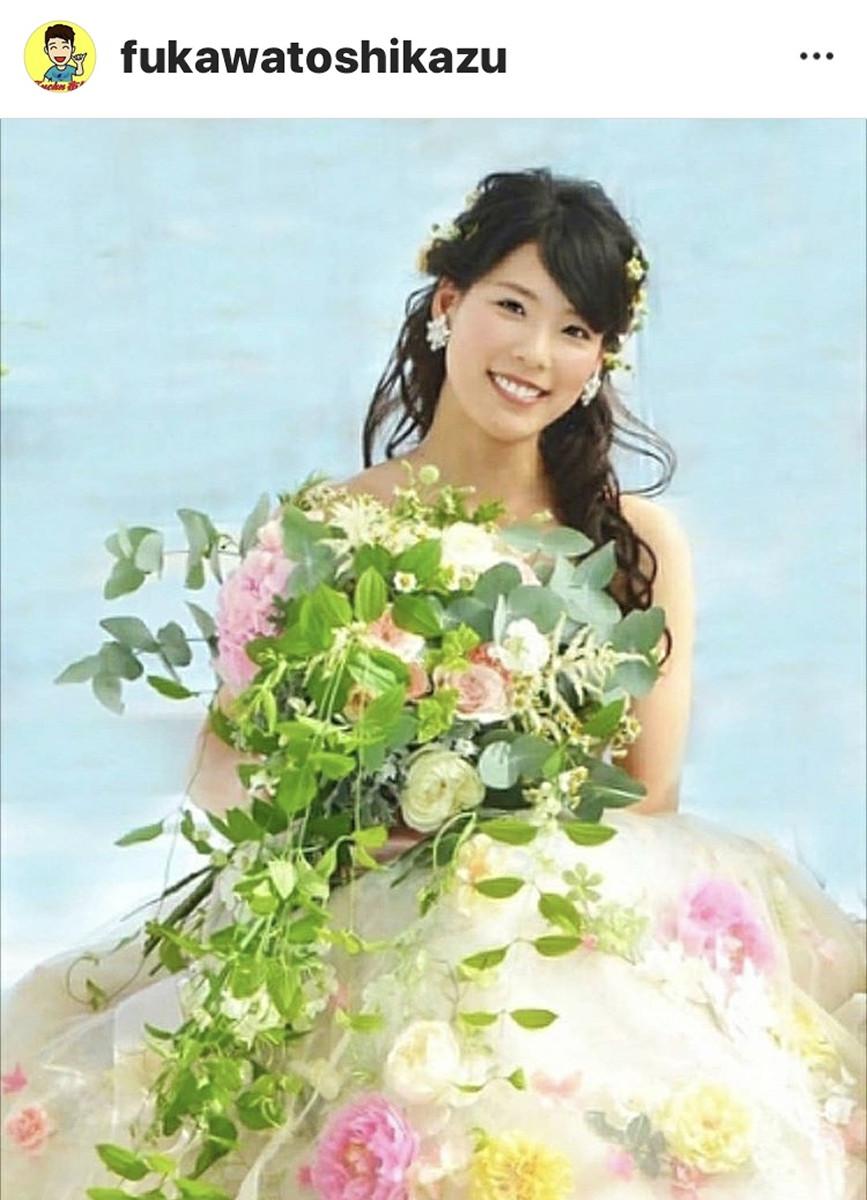 布川敏和「愛娘・桃花が結婚しました~」 長女・布川桃花のウエディングドレス姿を披露