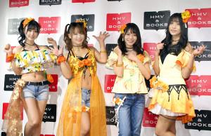 ブルーレイの発売イベントを行った「Merm4id」の(左から)岡田夢以、平嶋夏海、葉月ひまり、根岸愛