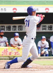 1号ソロを含む3打数3安打3打点の活躍をした関西国際大・池田壮平