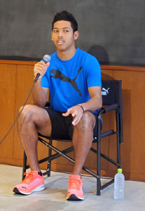 開幕まで300日となった東京五輪へ思いを語った陸上男子短距離のサニブラウン・ハキーム