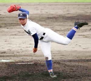 先発した履正社・渡辺純太は9回3安打1失点で完投