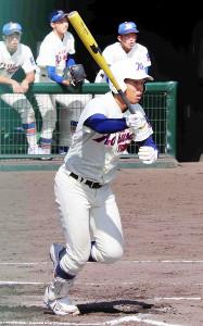 本塁打を含む3安打3打点と活躍した神戸国際大付の夜久彪真