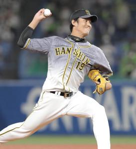 8回に3番手で登板した藤浪晋太郎