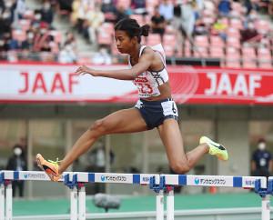 女子400メートル障害で初優勝したイブラヒム愛紗