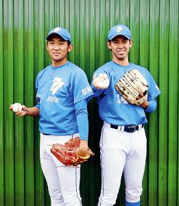 七十七銀行の和田(左)と森(右)