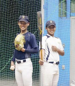 東北大会で上位進出を狙う角館の武田(左)と千葉(カメラ・小山内 彩希)