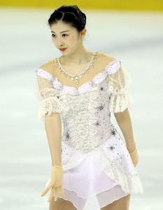 ショートプログラムを演技する永井優香(代表撮影)