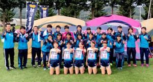 全道高校駅伝で女子が5連覇を達成した旭川龍谷(チーム提供)