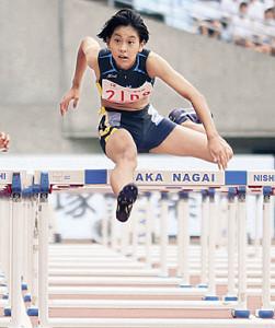 昨夏の全中100メートル障害では2年生ながら7位に