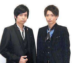 初の音楽朗読劇に挑む劇団Patchの中山義紘(左)と松井勇歩