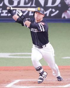 6回、ソフトバンクは代打・長谷川が右越えに満塁本塁打