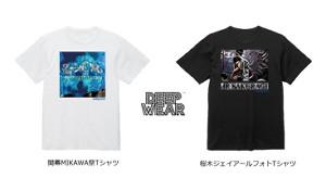 「開幕MIKAWA祭りTシャツ」と、桜木ジェイアール選手のフォトTシャツ