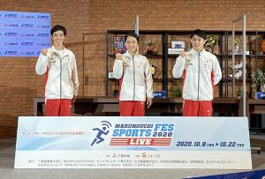 イベントに参加した(左から)白井健三、畠田瞳、谷川航