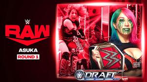 ドラフト1巡目のアスカ((c)2020 WWE, Inc. All Rights Reserved.)