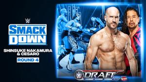ドラフト4巡目の中邑真輔&セザーロ((c)2020 WWE, Inc. All Rights Reserved.)
