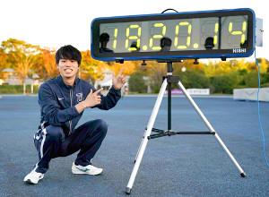 男子5000メートル競歩で日本新記録をマークした池田