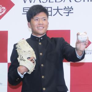 4球団競合で楽天が交渉権を獲得した早大・早川隆久