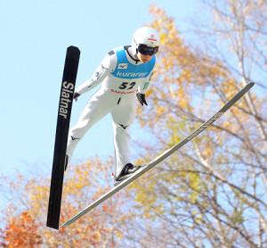 ビッグジャンプを2本そろえて優勝した佐藤幸(カメラ・川上 大志)