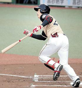 2回2死二、三塁、2点適時打を放った日本ハム・野村