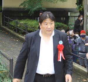 靖国神社奉納プロレスに登場した前田日明氏
