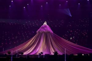 卒業コンサートを行ったNMB48の吉田朱里