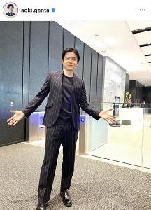 フリー転身の青木源太アナ、流行のセットアップコーデ公開に「オシャレ ...