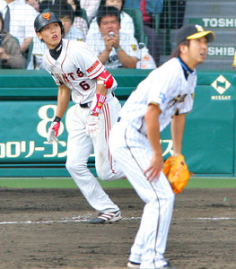 球児から初本塁打を放った坂本勇人(2009年5月2日撮影)