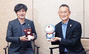 ドラえもんへの熱い思いを語った山崎貴監督(左)と八木竜一監督