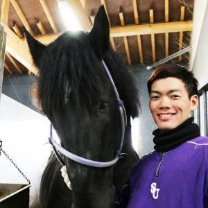 ばんえい競馬の騎手試験に合格した金田さん(ばんえい十勝提供)